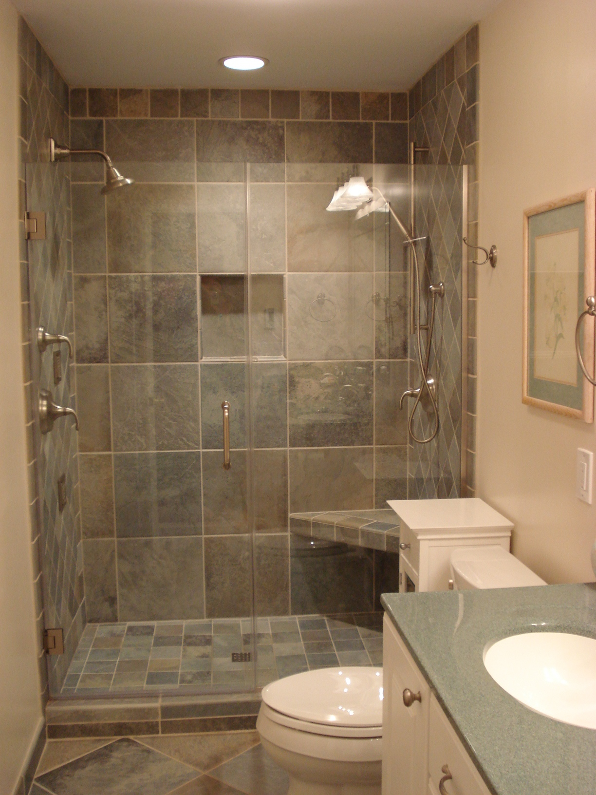 Lifetime design build inc completed projects for Small bathroom redesign